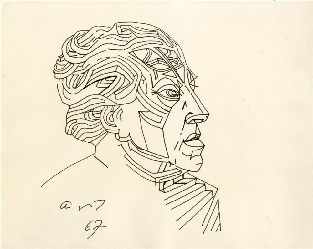 817: ANDRE MASSON - Original pen and ink drawing
