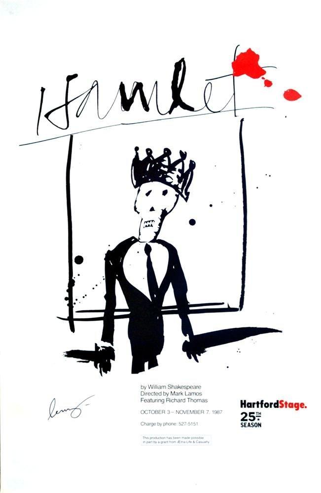 3: JEAN-MICHEL BASQUIAT - Color lithograph