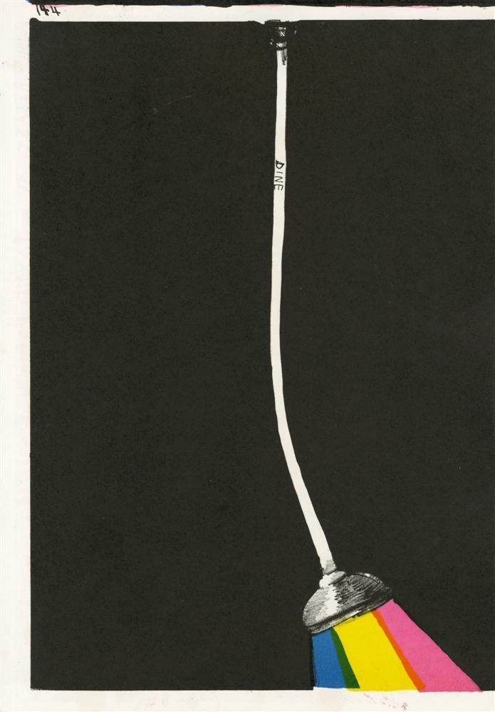12: JIM DINE - Color lithograph