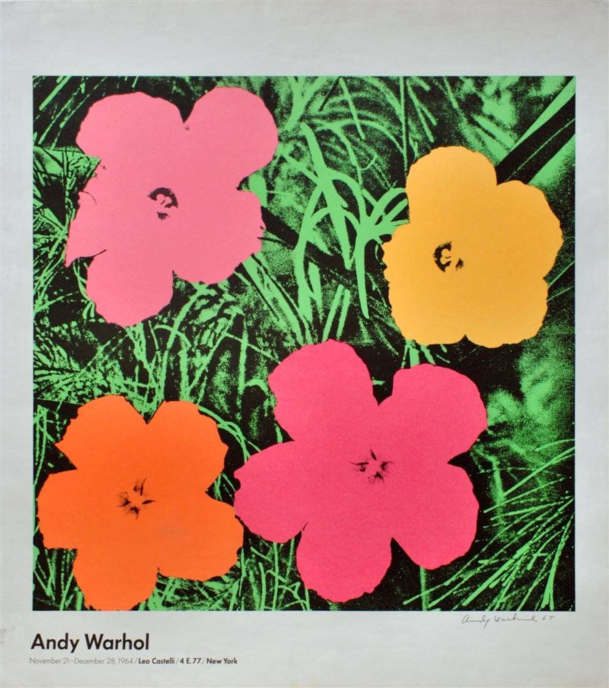 158: ANDY WARHOL - Color lithograph