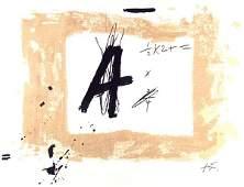 638 ANTONI TAPIES  Original color lithograph
