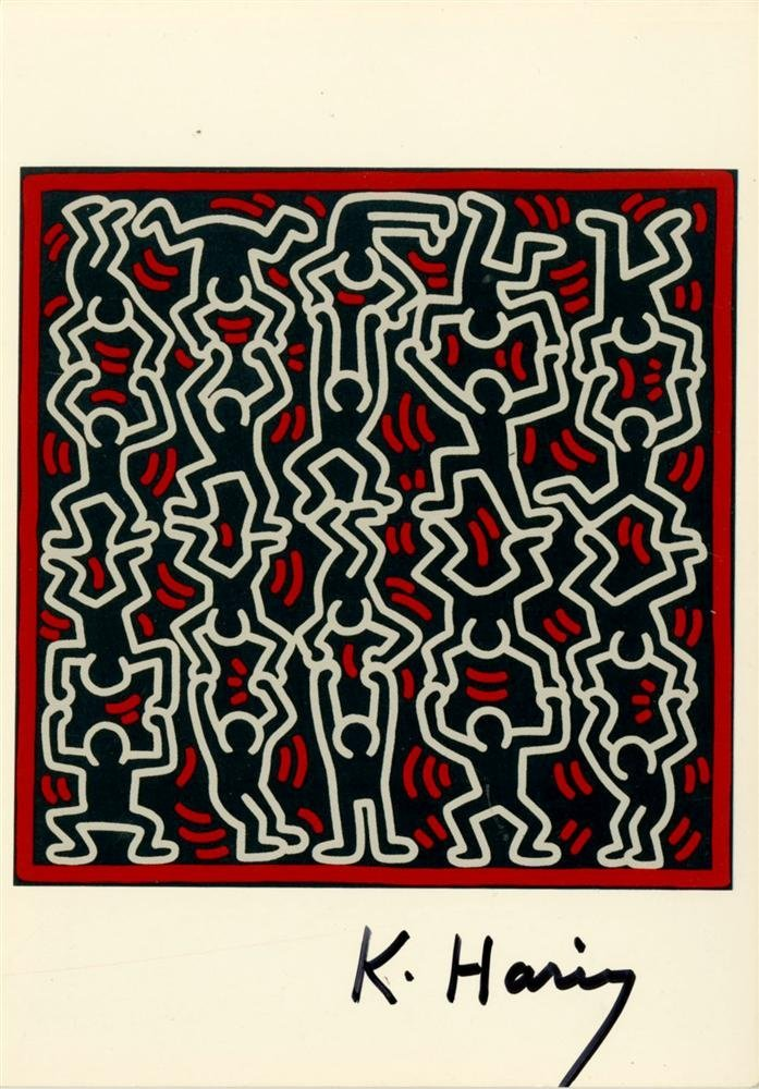 726: KEITH HARING - Color offset lithograph