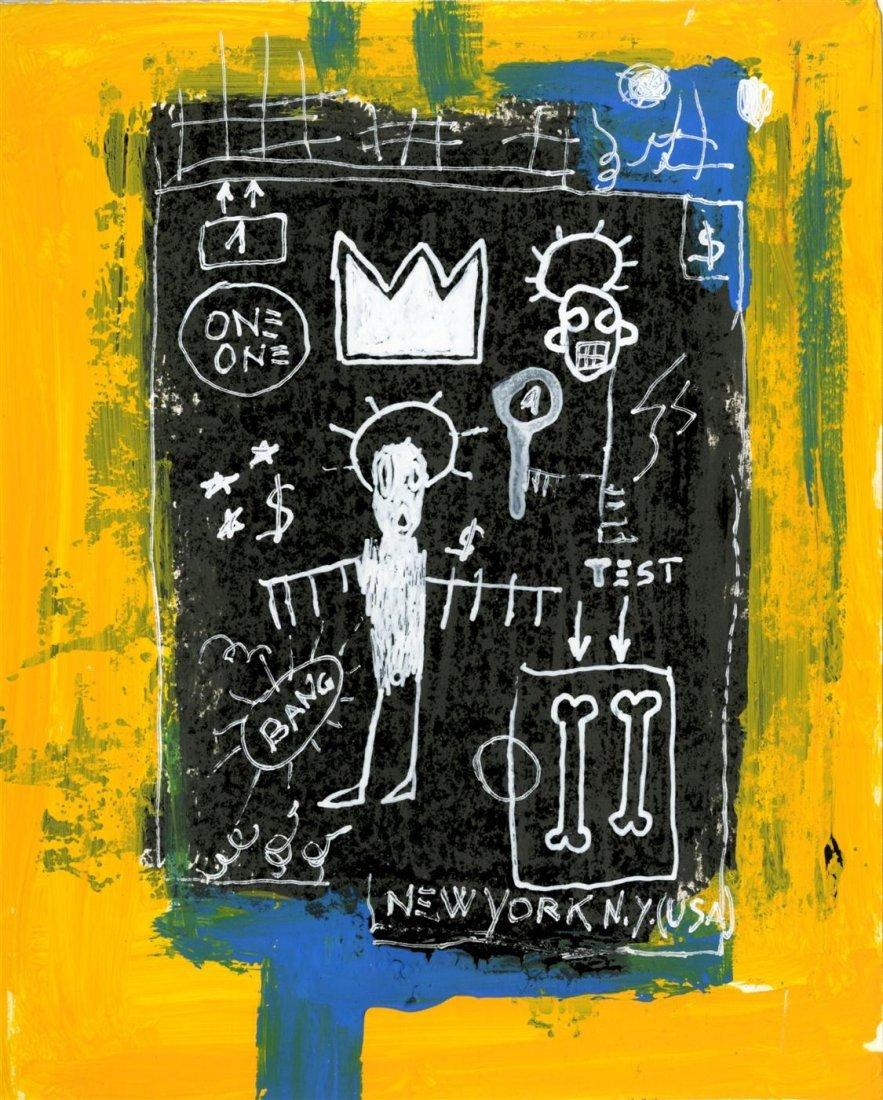 4: JEAN-MICHEL BASQUIAT - Oil on paper