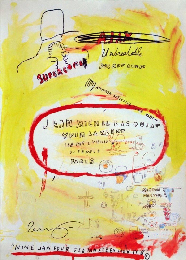 6: JEAN-MICHEL BASQUIAT - Color offset lithograph