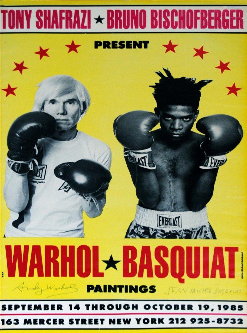 12: JEAN-MICHEL BASQUIAT & ANDY WARHOL - Original color