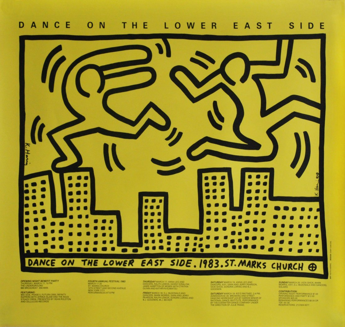 17: KEITH HARING - Color offset lithograph