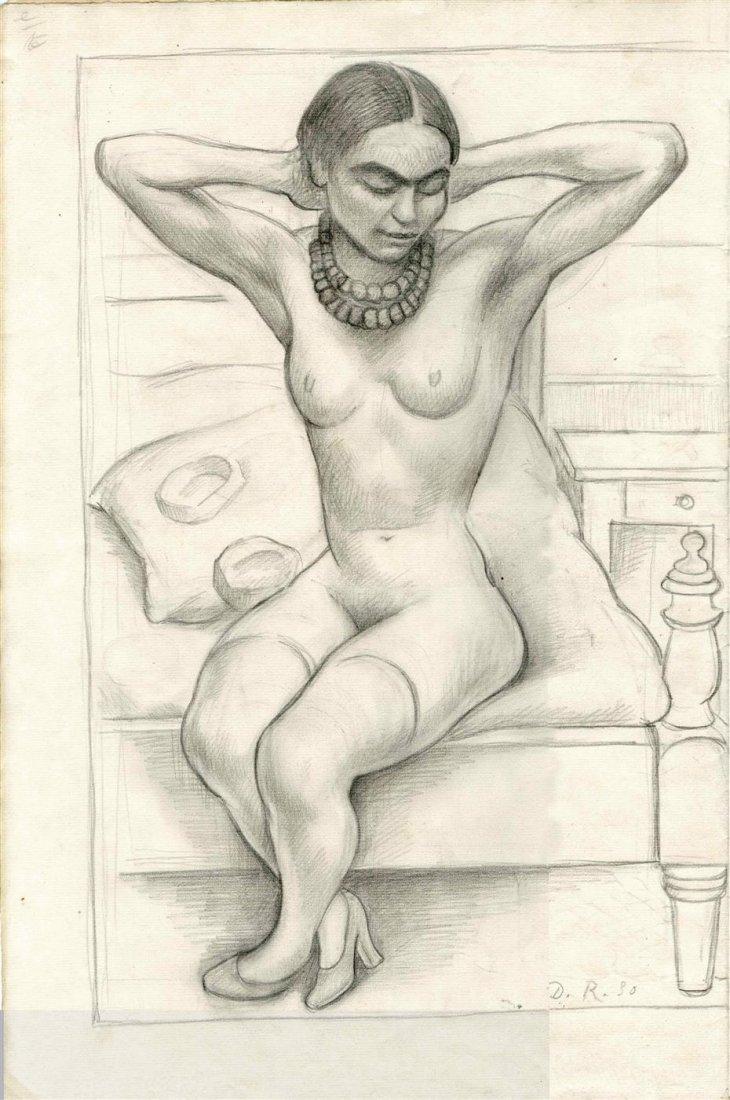 648: DIEGO RIVERA - Original pencil drawing on paper
