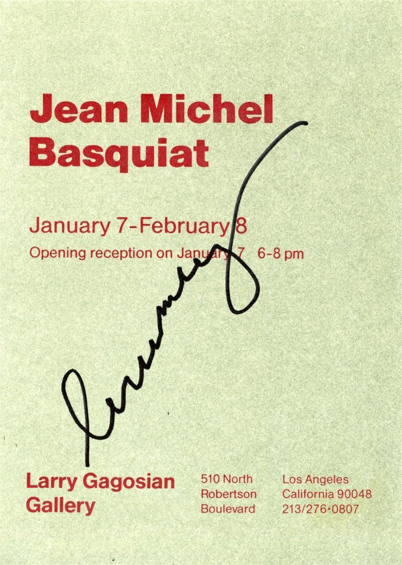 767: JEAN-MICHEL BASQUIAT - Color lithograph