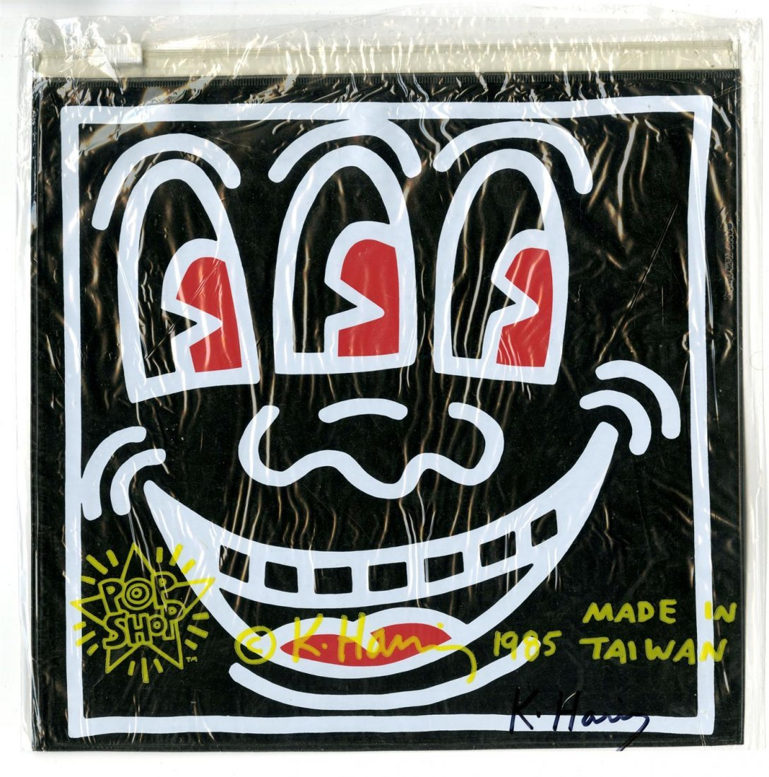 785: KEITH HARING - Color offset lithograph on vinyl