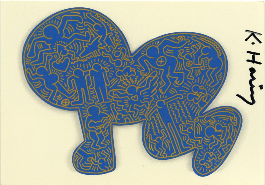 788: KEITH HARING - Color offset lithograph