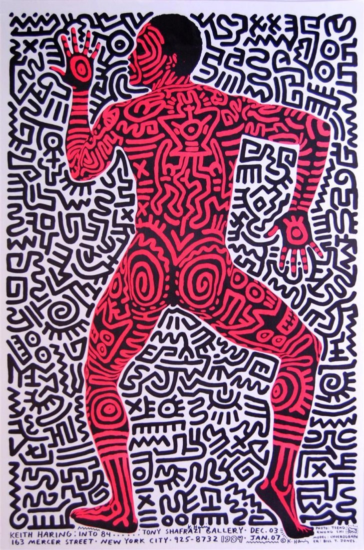 19: KEITH HARING - Original color lithograph