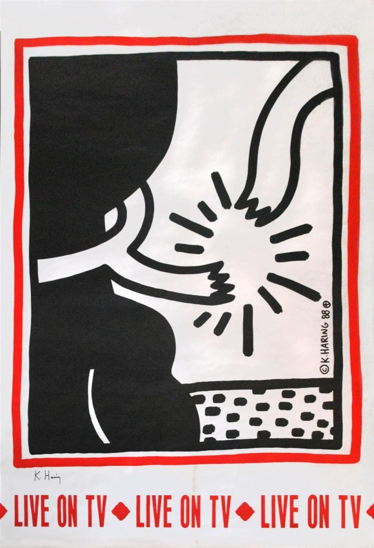 25: KEITH HARING - Color offset lithograph