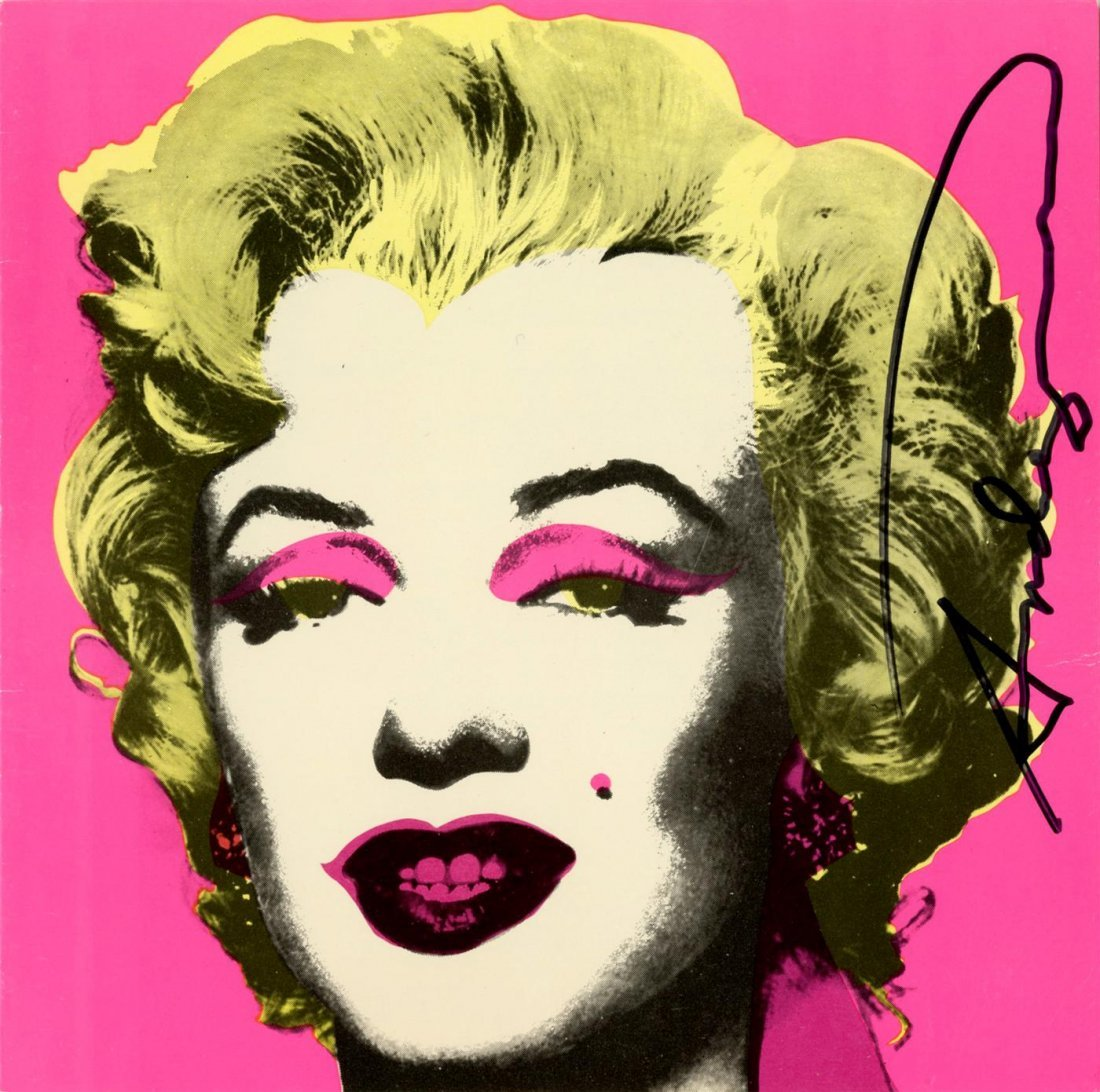 220: ANDY WARHOL - Original color offset lithograph