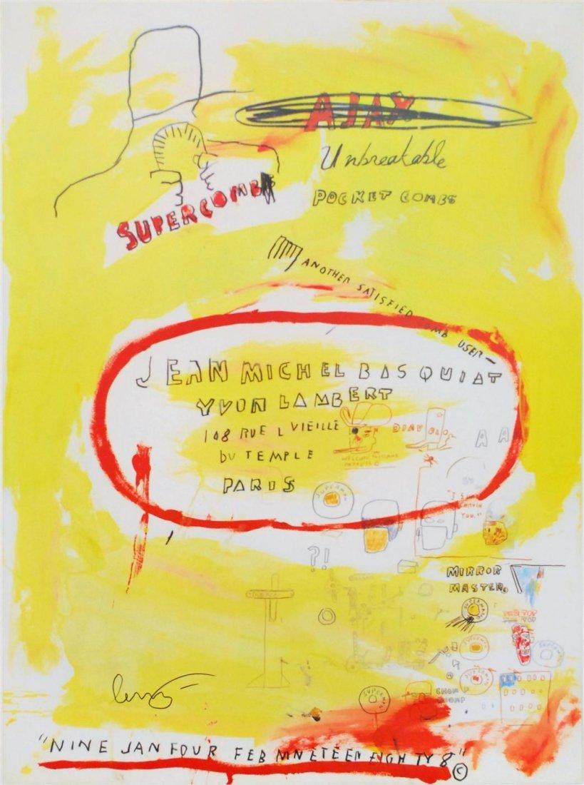11: JEAN-MICHEL BASQUIAT - Color offset lithograph