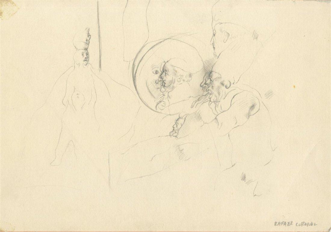 22: RAFAEL CORONEL - Pencil drawing