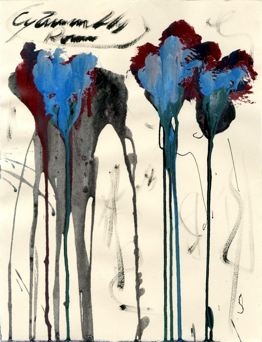 947: CY TWOMBLY - Oil and acrylic on paper