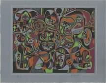 967: STEVE WHEELER - Original color silkscreen