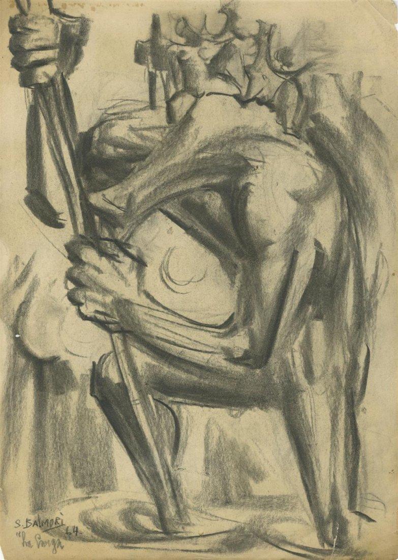 1000: SANTOS BALMORI - Charcoal drawing