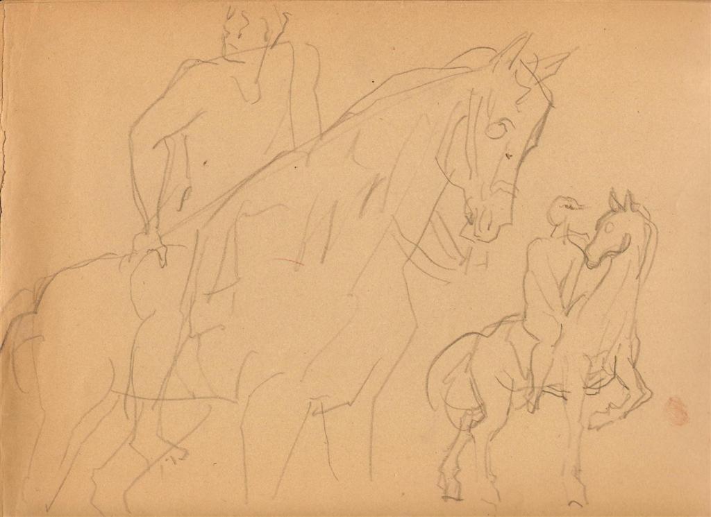 1001: SANTOS BALMORI - Original pencil drawing