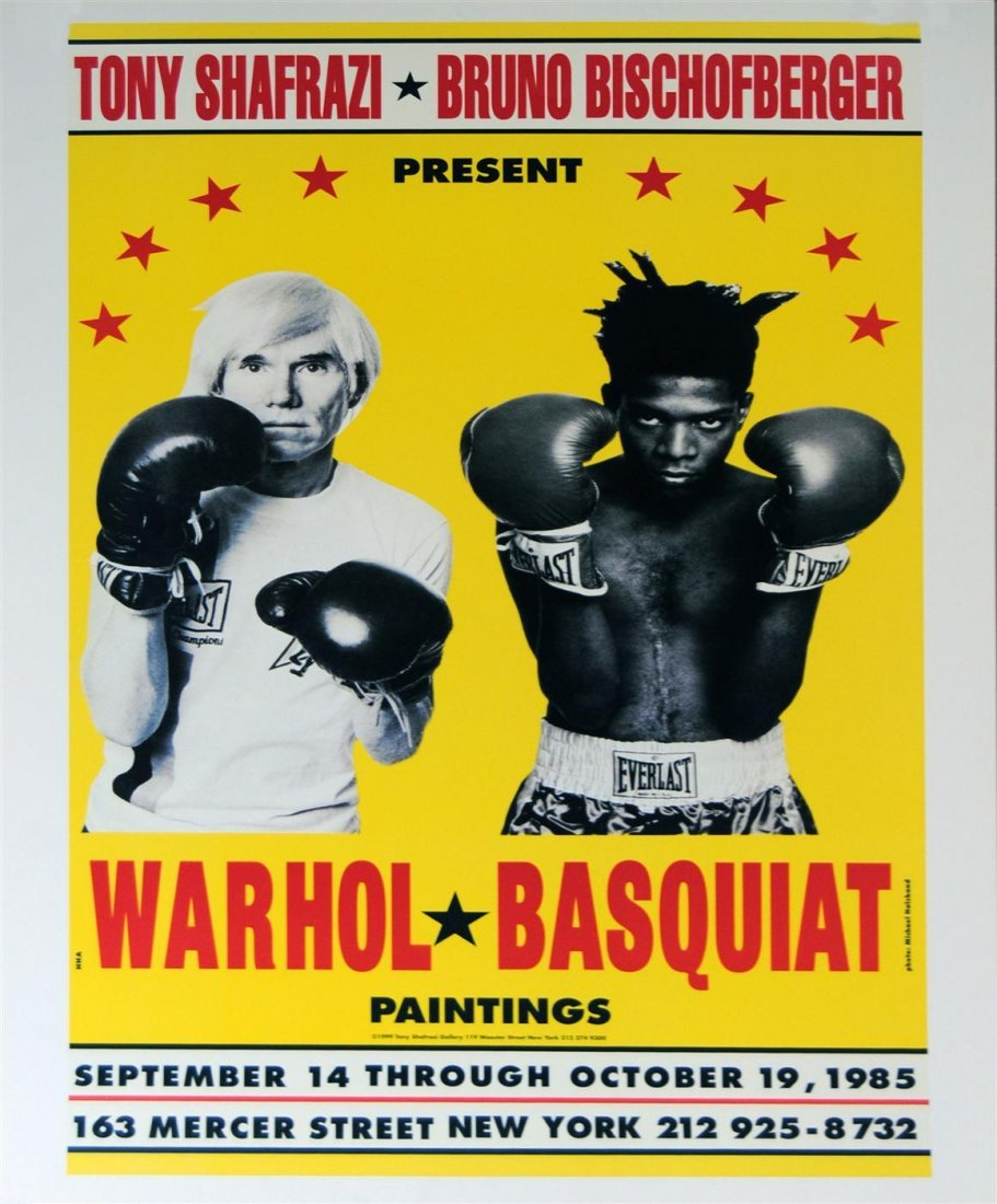 1008: JEAN-MICHEL BASQUIAT & ANDY WARHOL - Color offset