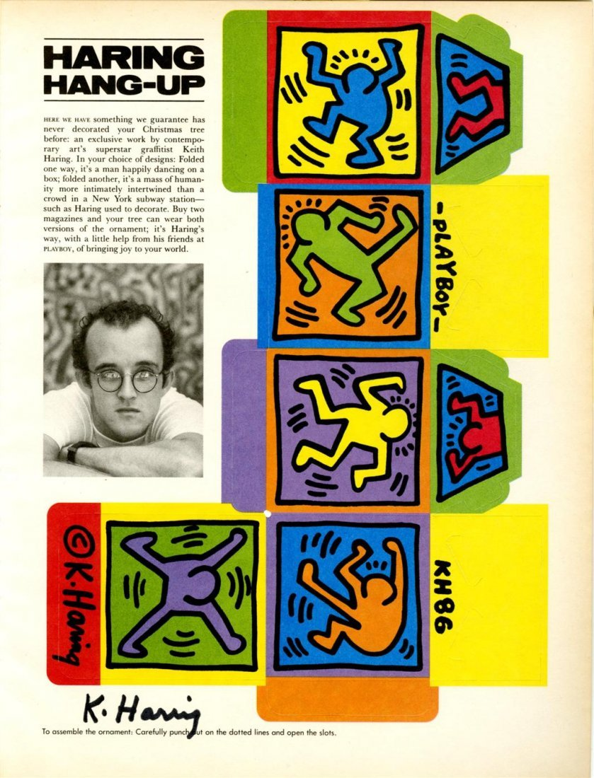 1015: KEITH HARING - Color offset lithograph