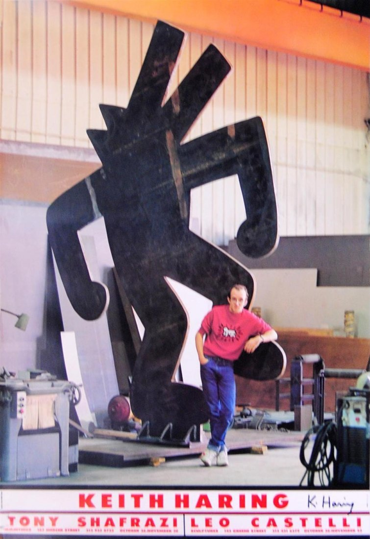 1017: KEITH HARING - Color offset lithograph