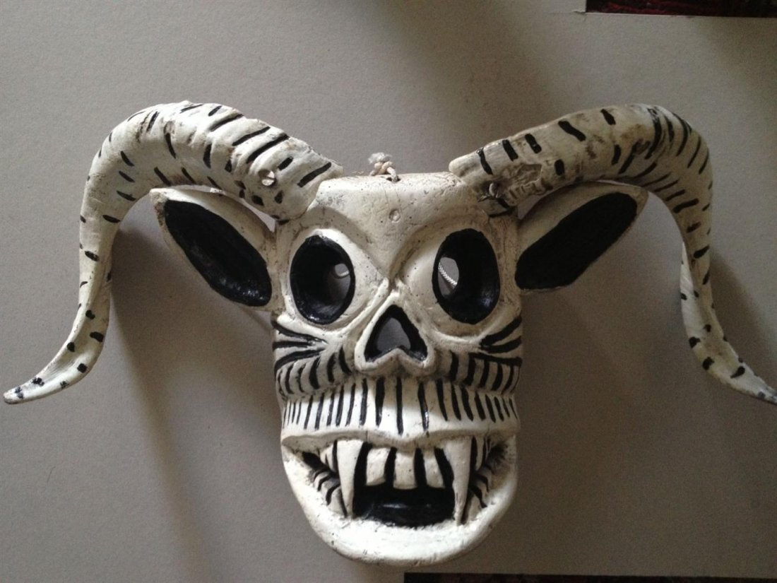 1995: MEXICAN MASKMAKER, [20TH CENTURY] - Hand-carved,
