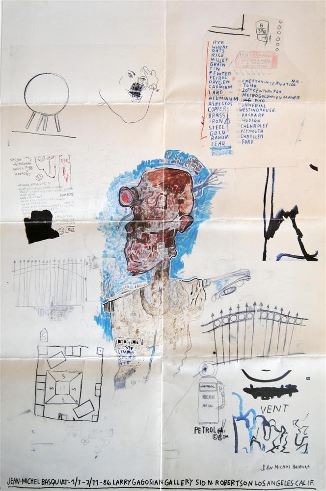 7: JEAN-MICHEL BASQUIAT - Color offset lithograph