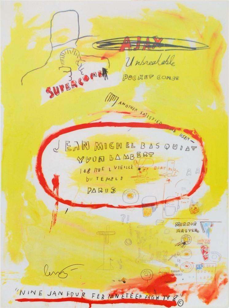 12: JEAN-MICHEL BASQUIAT - Color offset lithograph