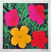202 ANDY WARHOL  Color silkscreen