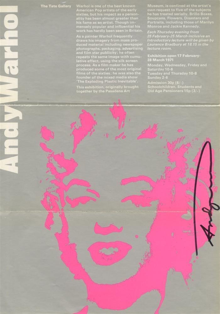 271: ANDY WARHOL - Original color silkscreen