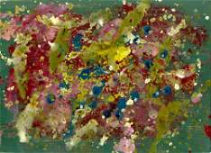 532: SAM FRANCIS - Acrylic on paper