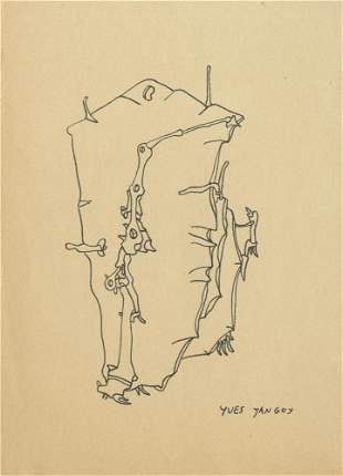 878: YVES TANGUY - Pen and ink drawing