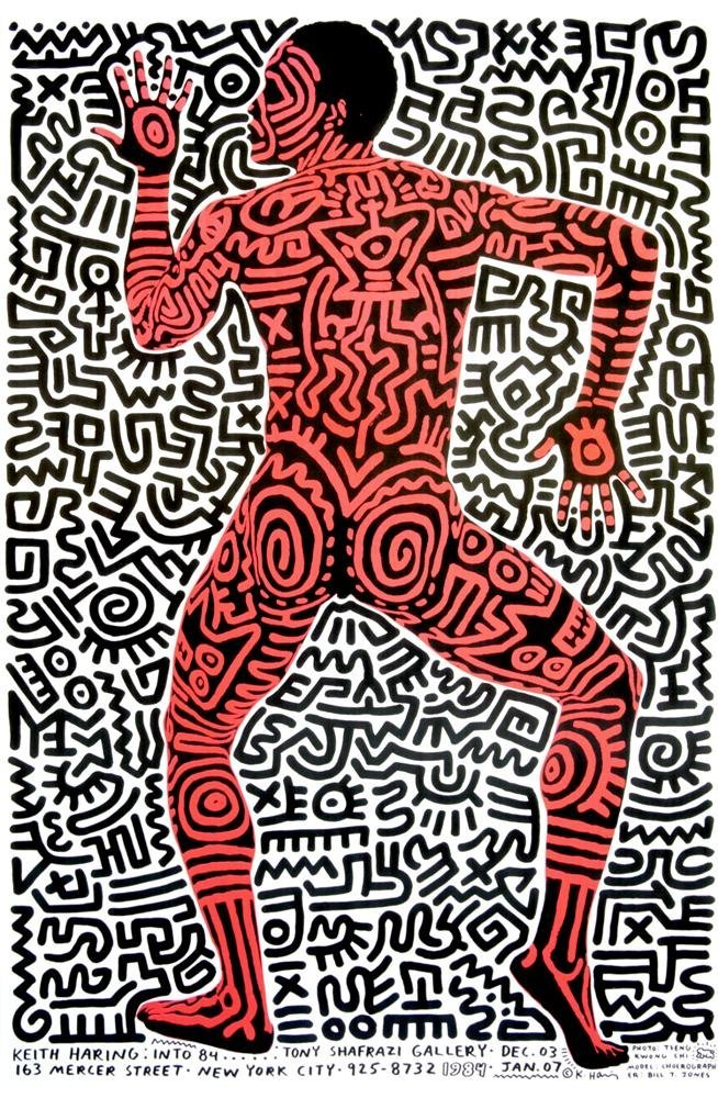 960: KEITH HARING - Color poster