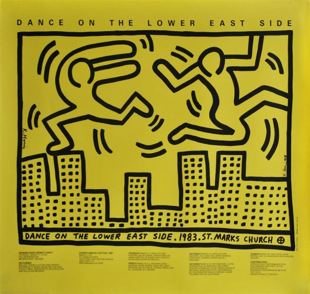 23: KEITH HARING - Color offset lithograph
