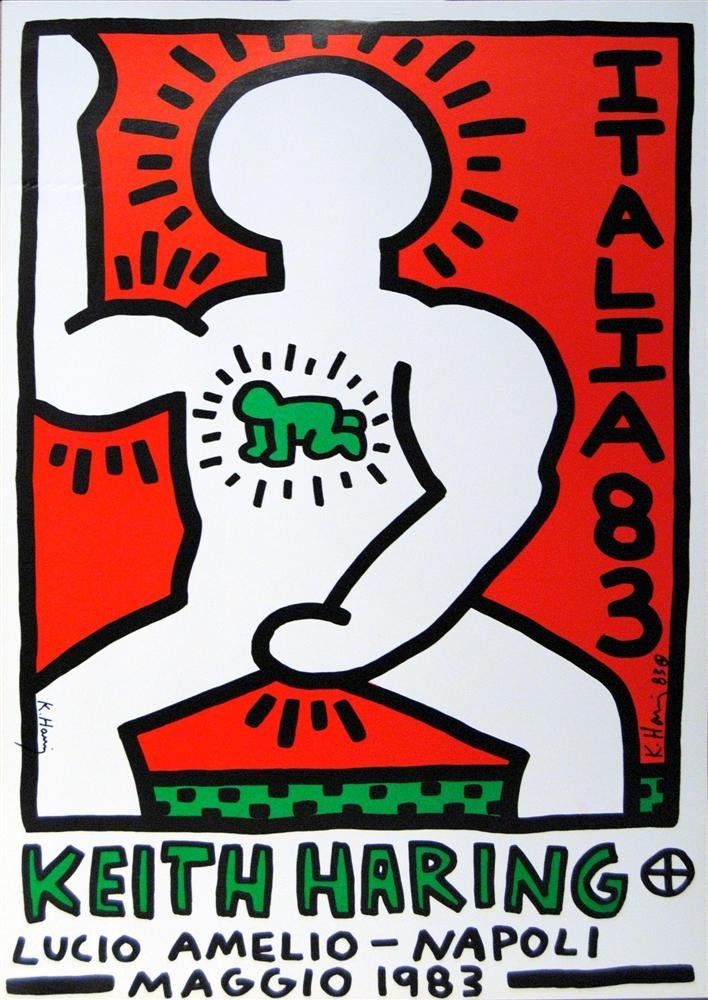 25: KEITH HARING - Original color lithograph