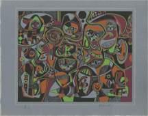 834: STEVE WHEELER - Original color silkscreen