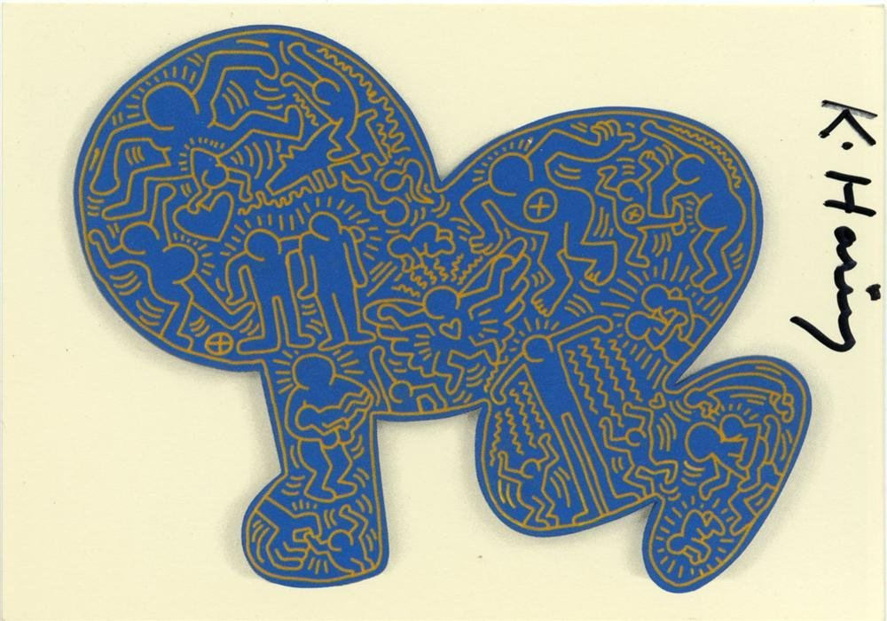 890: KEITH HARING - Color offset lithograph