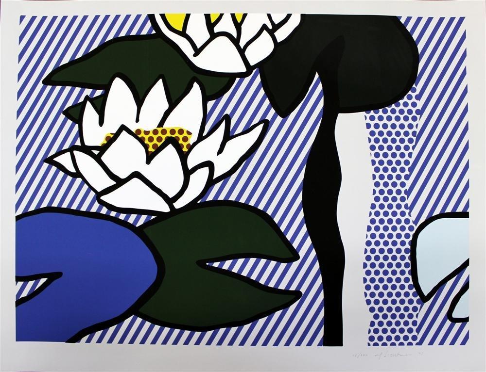 81: ROY LICHTENSTEIN - Linoleum cut, woodcut,