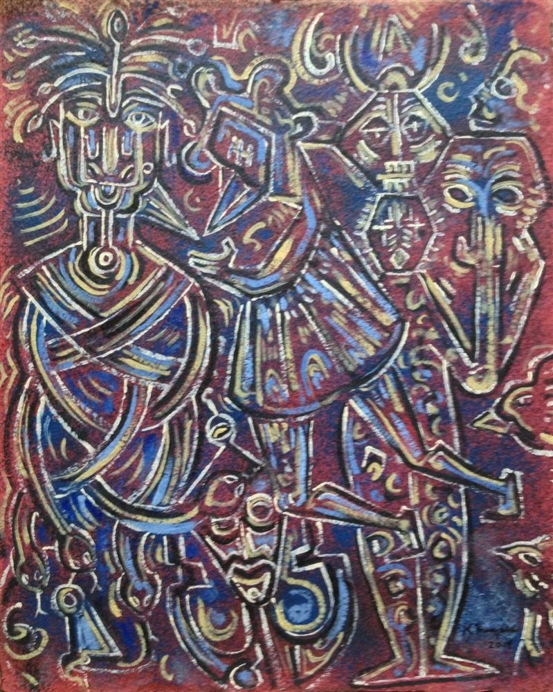 136: KARIMA MUYAES - Oil on paper