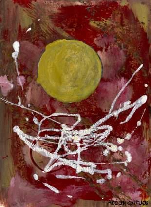 461: ADOLPH GOTTLIEB [attrib] - Acrylic on paper
