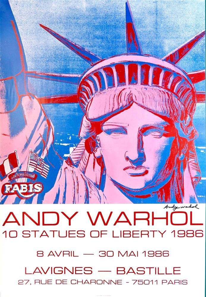 2: ANDY WARHOL - Color offset lithograph