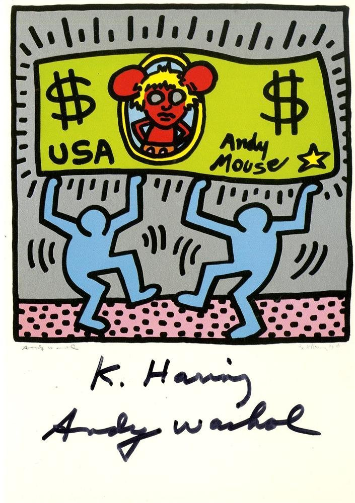 16: KEITH HARING & ANDY WARHOL - Color offset