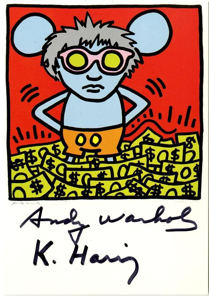 17: KEITH HARING & ANDY WARHOL - Color offset