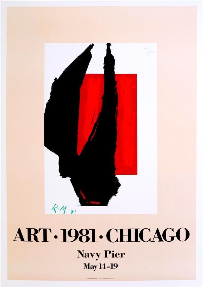 21: ROBERT MOTHERWELL - Original color lithograph