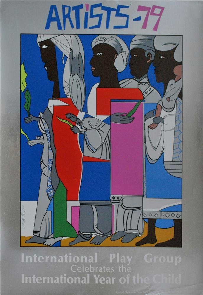 22: ROMARE BEARDEN - Color silkscreen