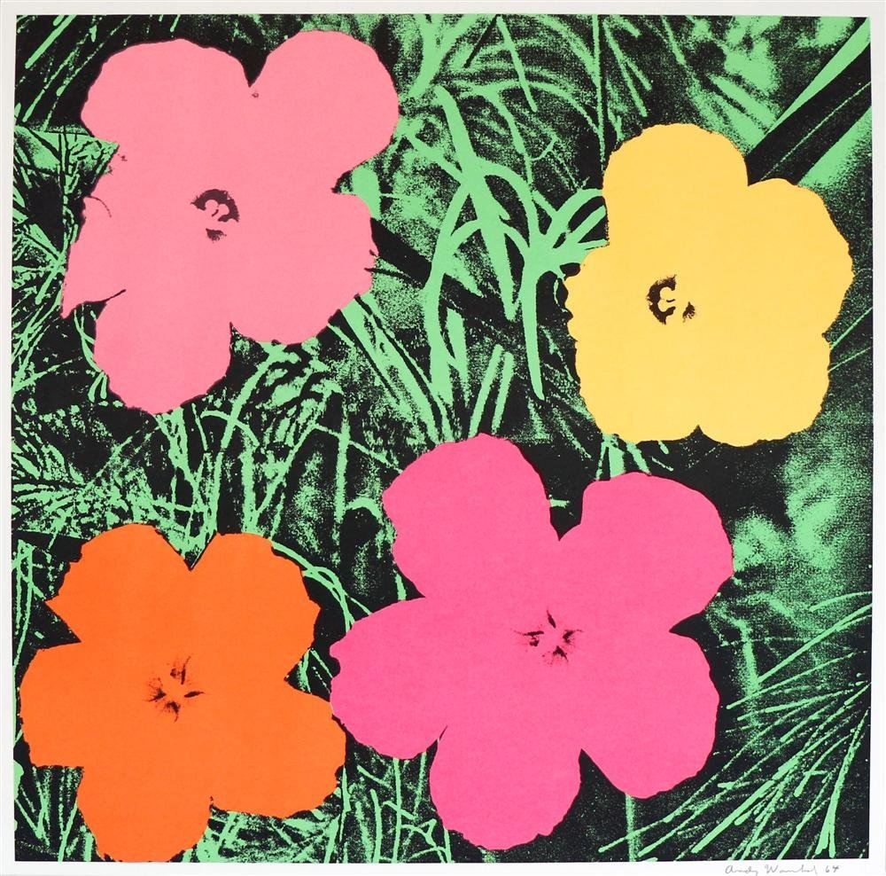 95: ANDY WARHOL - Color offset lithograph