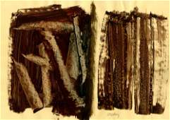 469 PIERRE SOULAGES  Mixed media on paper