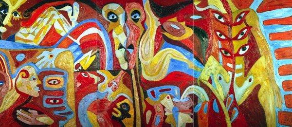 655: KARIMA MUYAES - Oil on canvas