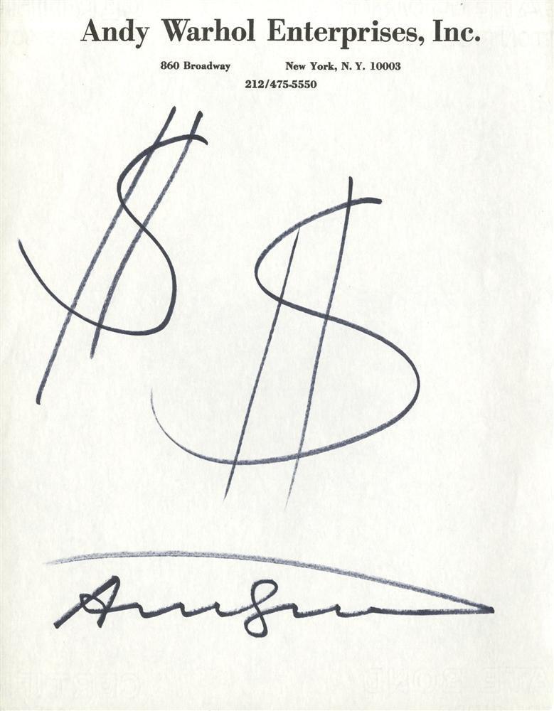 601: ANDY WARHOL - $$ [dollar signs]